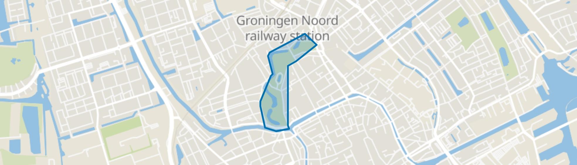 Noorderplantsoen, Groningen map