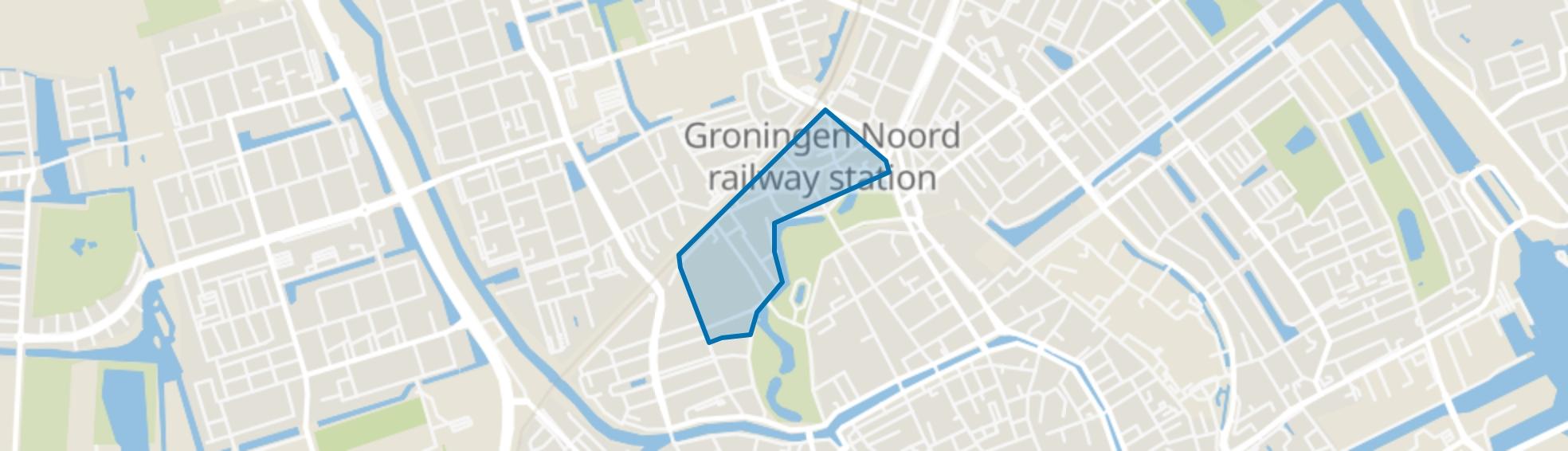 Noorderplantsoenbuurt, Groningen map