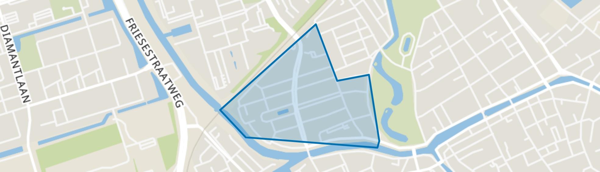 Oranjebuurt, Groningen map