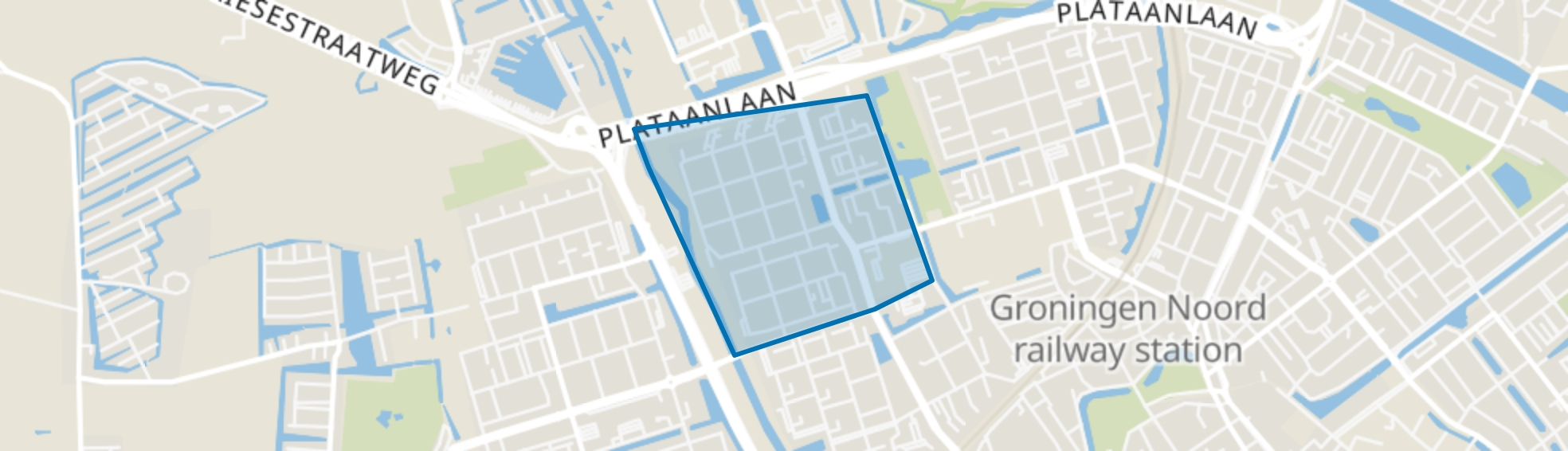 Paddepoel-Noord, Groningen map