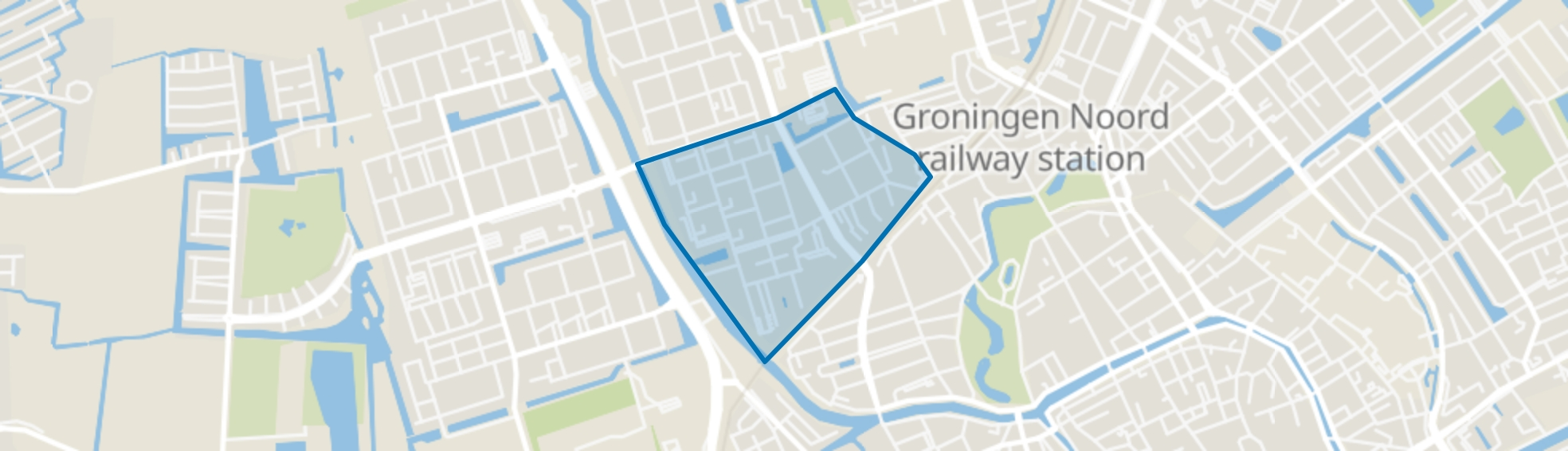 Paddepoel-Zuid, Groningen map