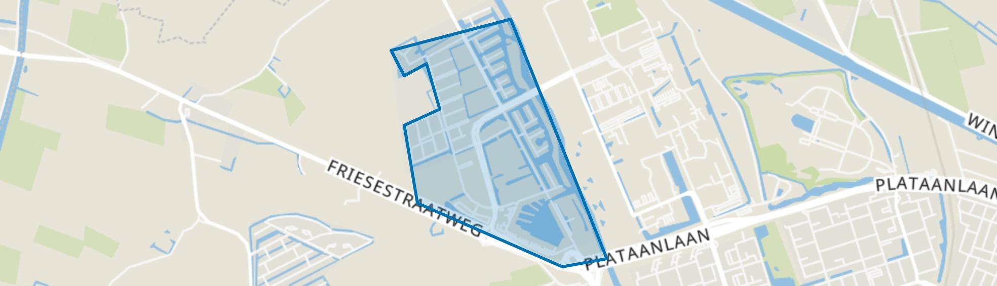 Reitdiep, Groningen map