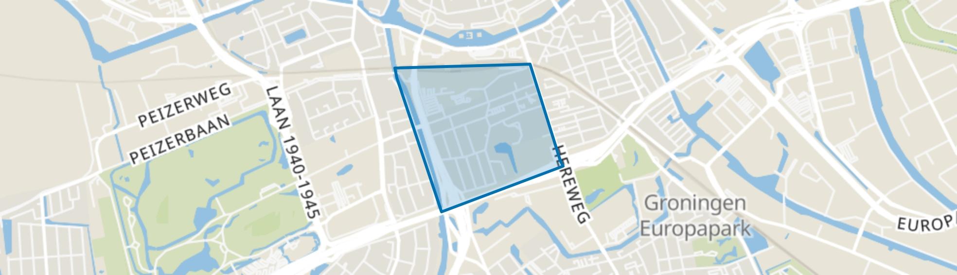 Rivierenbuurt, Groningen map