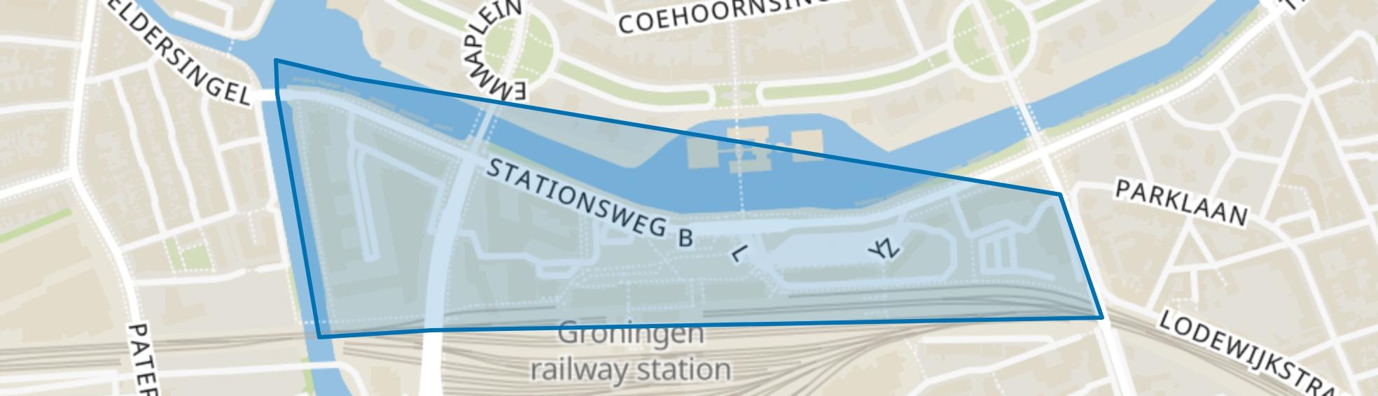 Stationsgebied, Groningen map