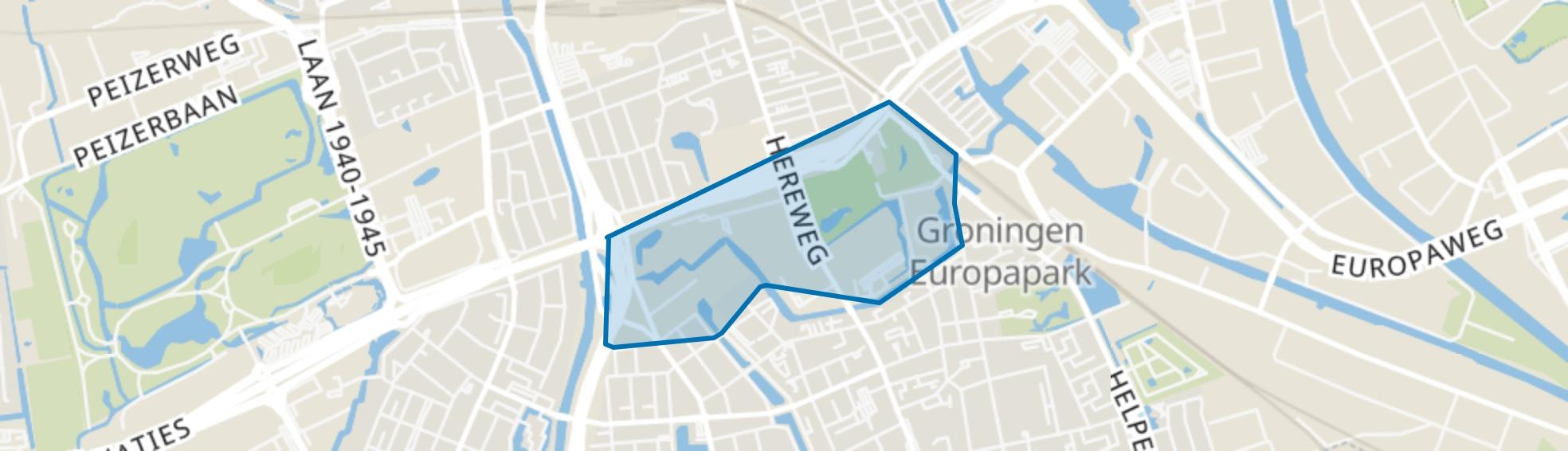 Sterrebosbuurt, Groningen map