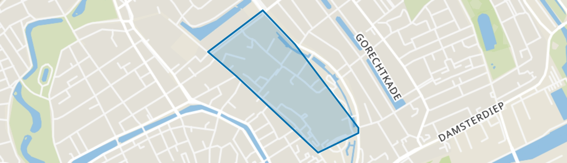 UMCG, Groningen map