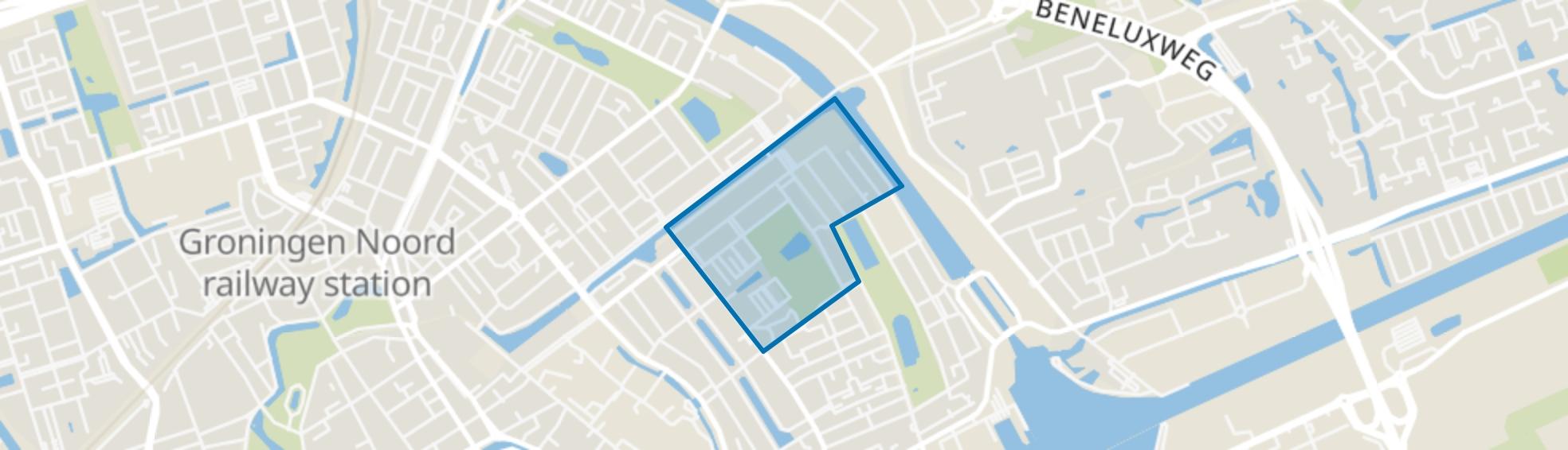Vogelbuurt, Groningen map