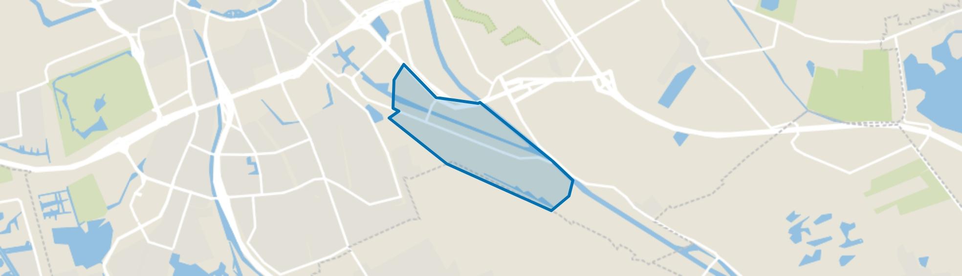 Winschoterdiep, Groningen map
