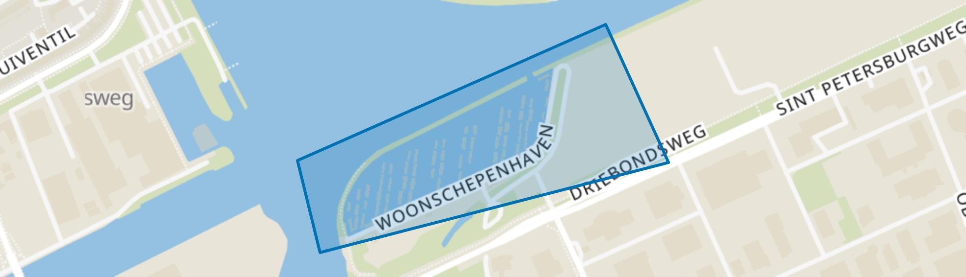 Woonschepenhaven, Groningen map