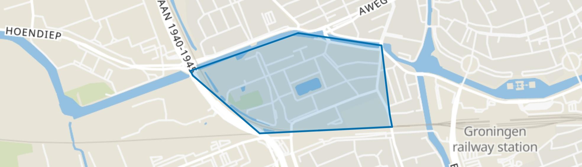 Zeeheldenbuurt, Groningen map