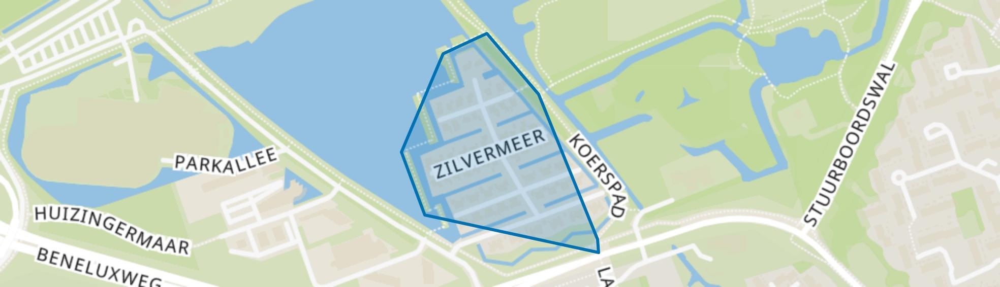Zilvermeer, Groningen map
