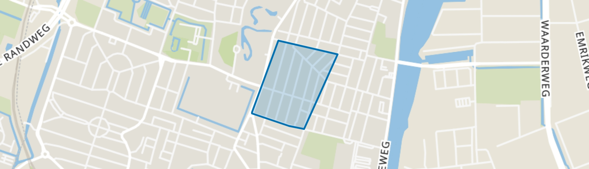 Generaalsbuurt, Haarlem map