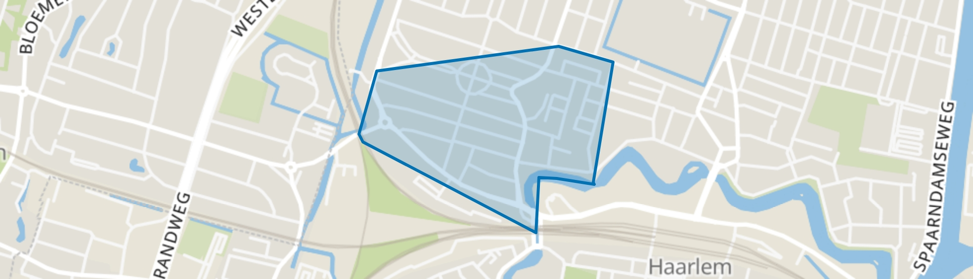 Kleverpark-zuid, Haarlem map