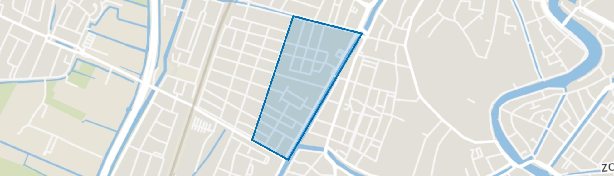 Leidsebuurt-oost, Haarlem map