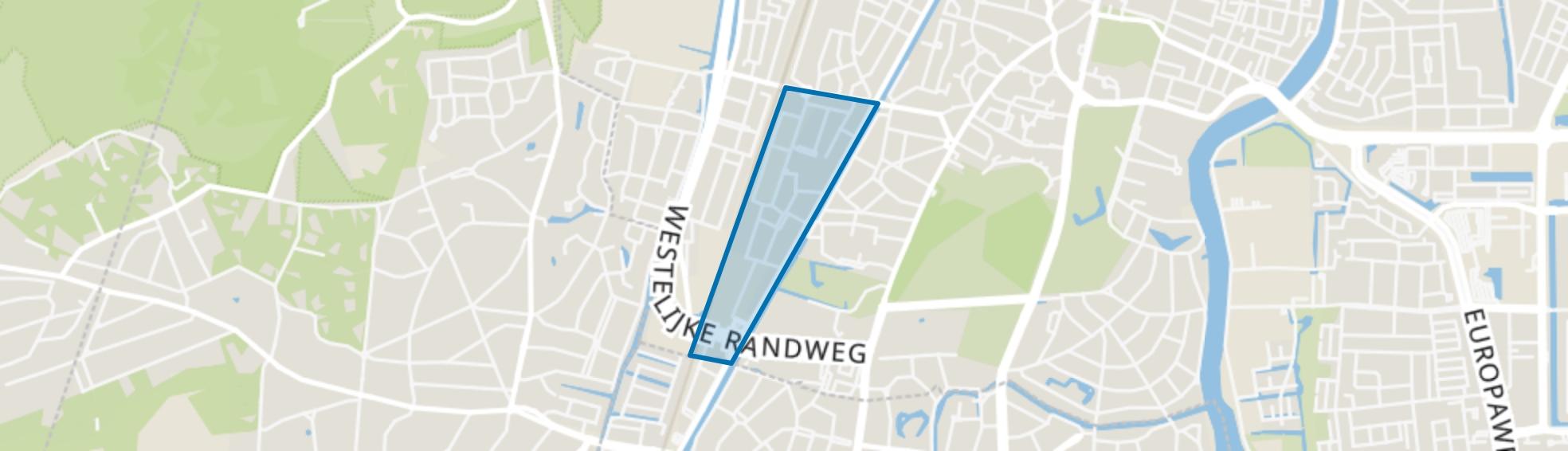 Natuurkundigenbuurt-oost, Haarlem map