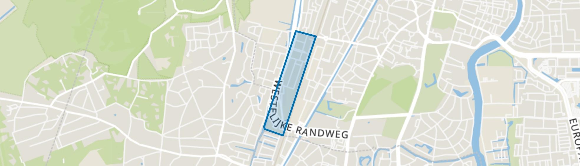 Natuurkundigenbuurt-west, Haarlem map