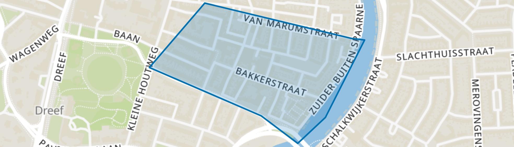 Rozenprieel-zuid, Haarlem map