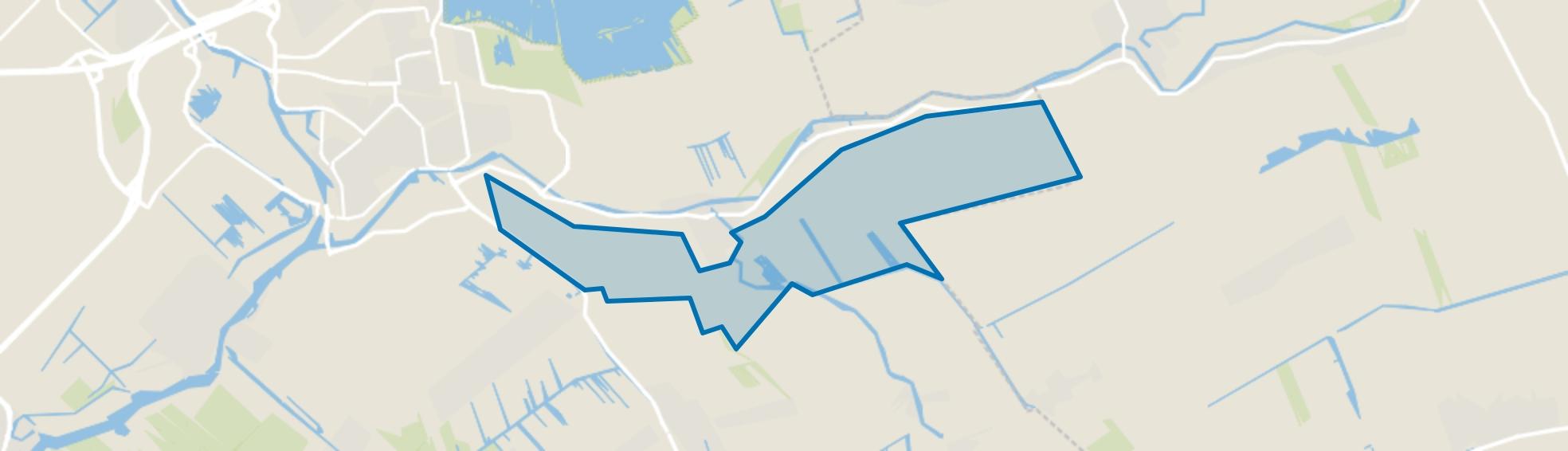 Verspr. huizen Haastrecht Zuid, Haastrecht map