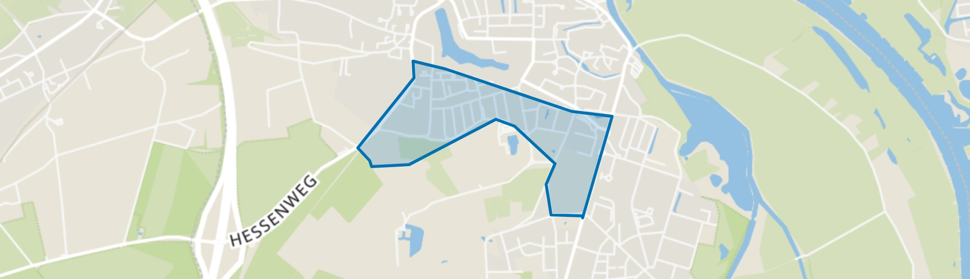 Hogenkamp en omgeving, Hattem map
