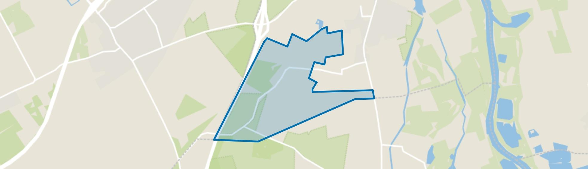 Verspreide huizen bosgebied, Hattem map