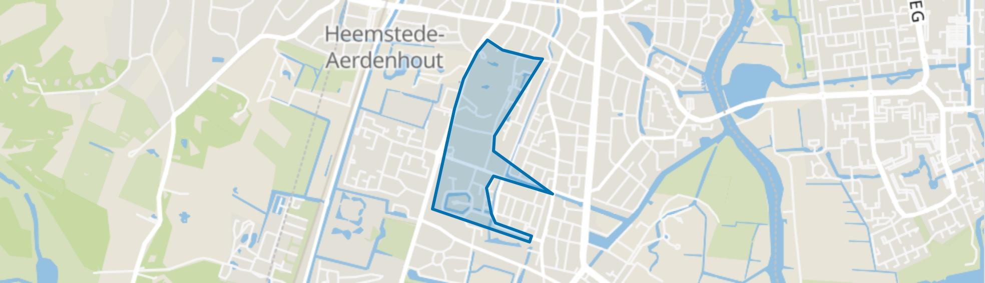 Kennemerduin en omgeving, Heemstede map
