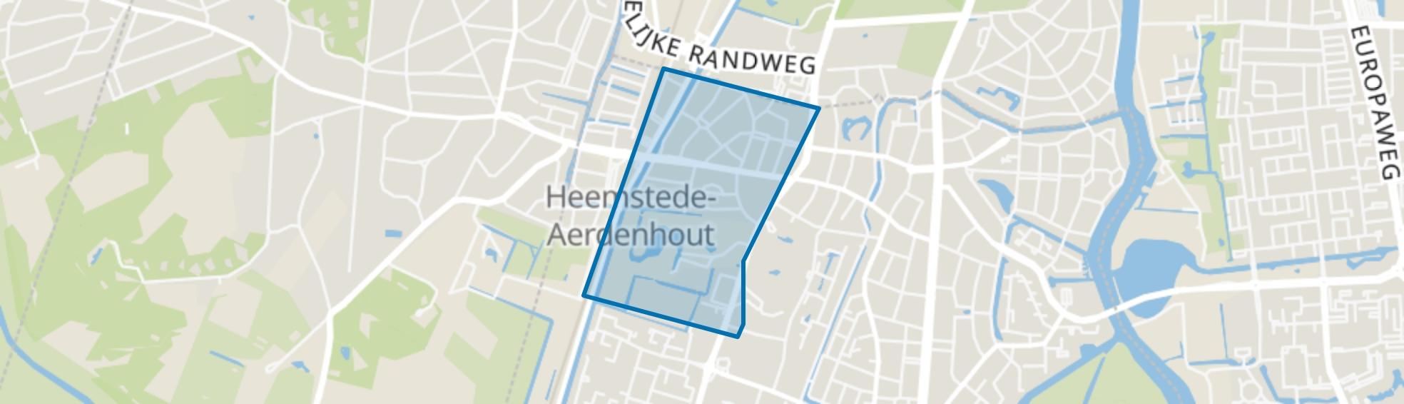 Zandvoortselaan en Berkenrode en omgeving, Heemstede map