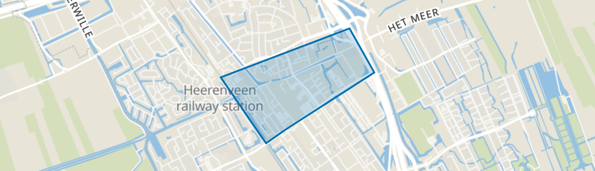 Centrum, Heerenveen map