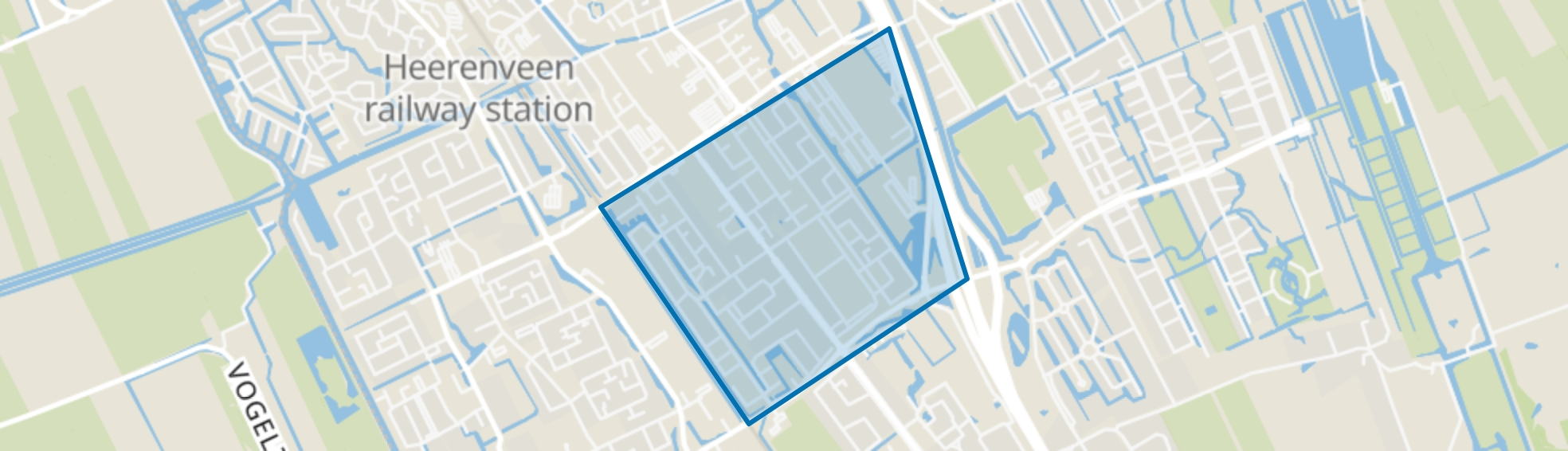 Midden, Heerenveen map
