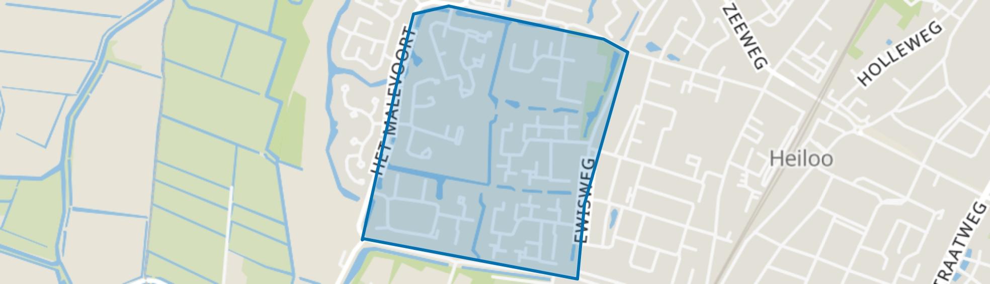 Zuid West, Heiloo map