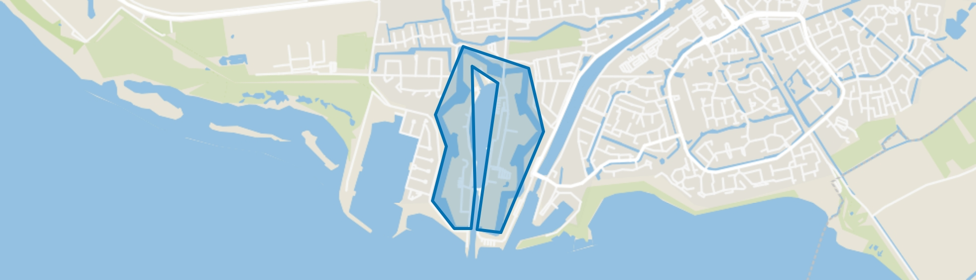 De Vesting, Hellevoetsluis map