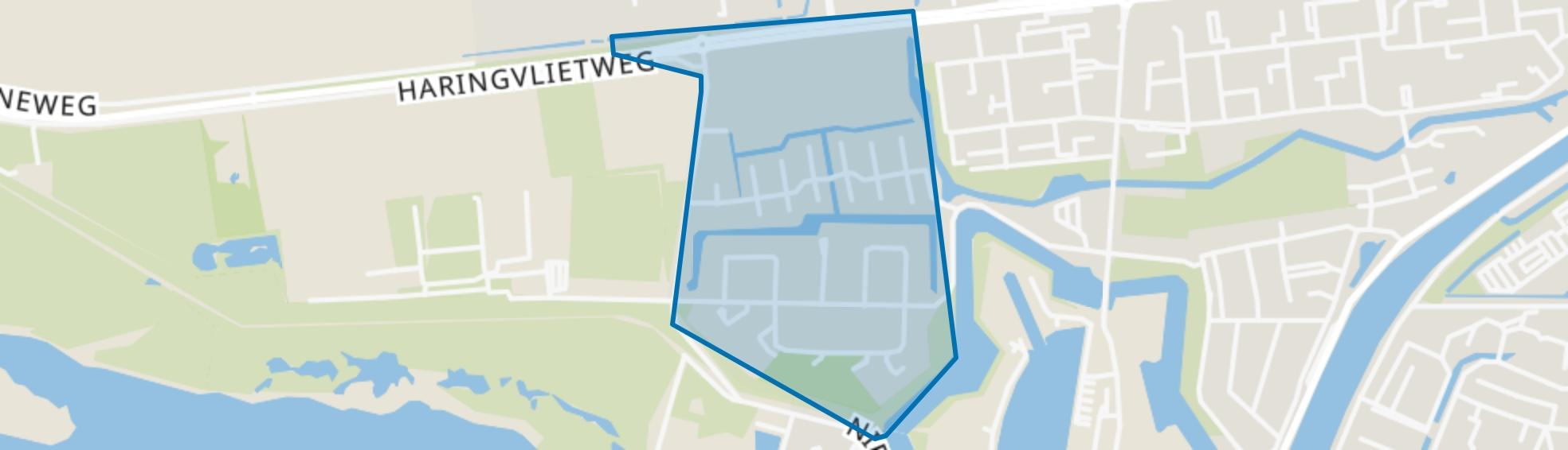 Groote Weergors, Hellevoetsluis map