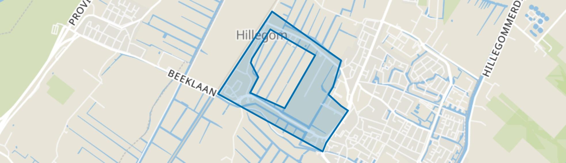 Om de Zanderij, Hillegom map