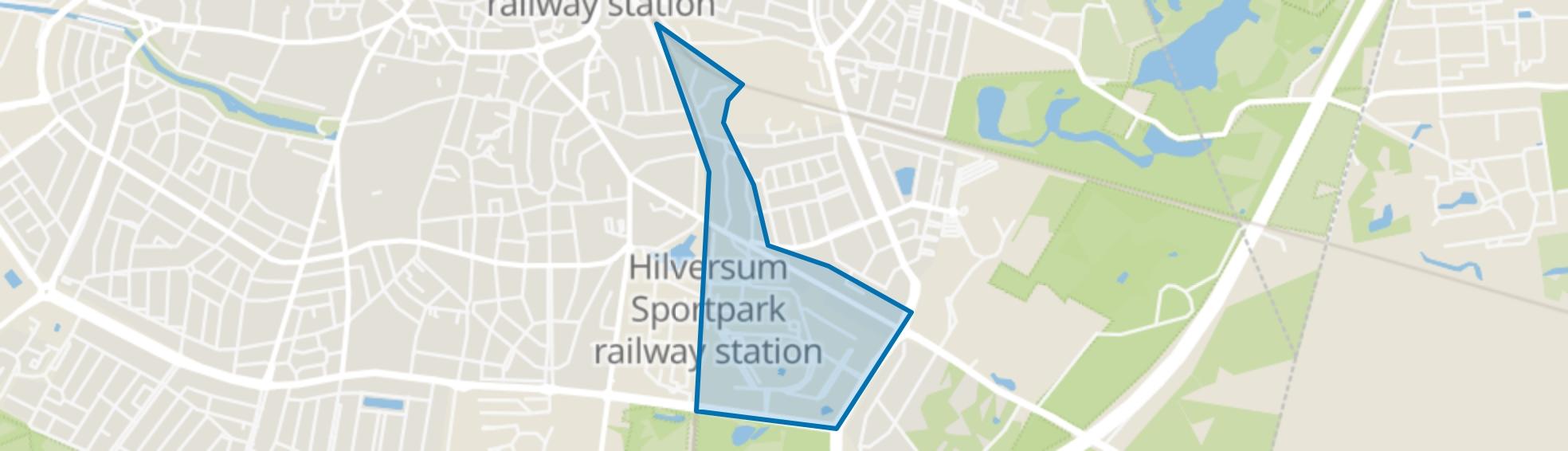 Arenaparkkwartier, Hilversum map