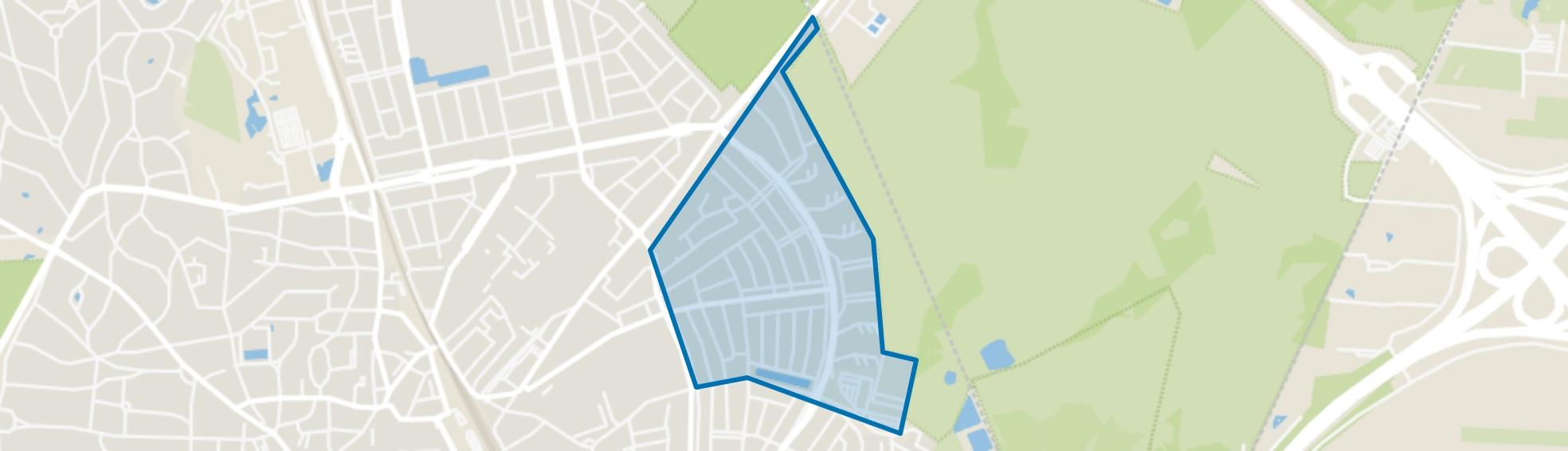 Astronomische Buurt, Hilversum map
