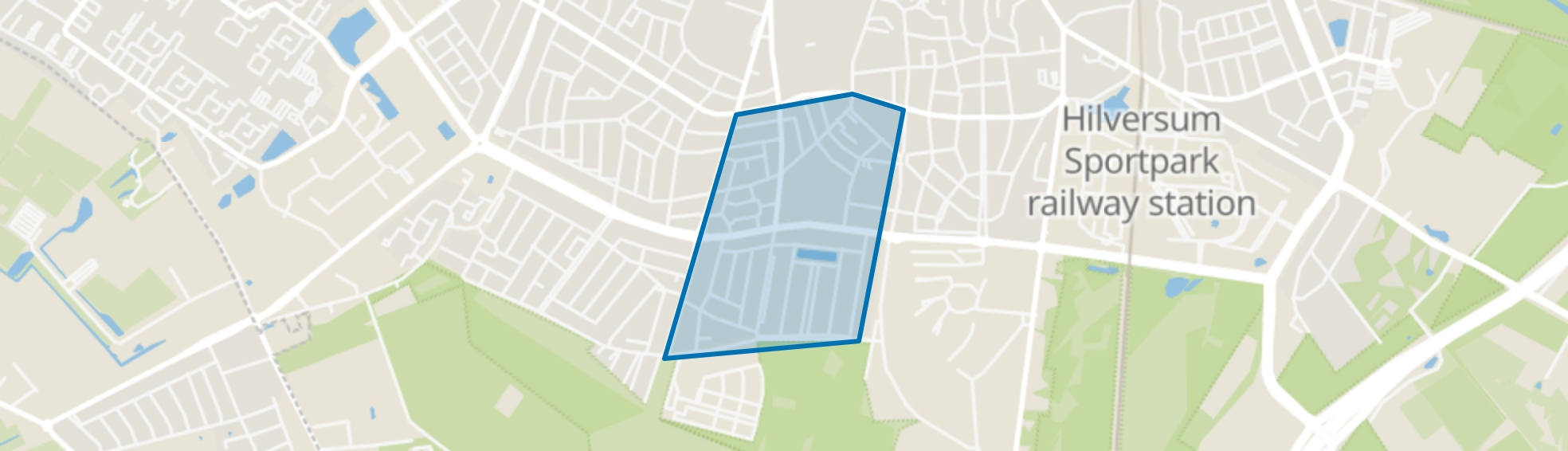 Bloemenkwartier Zuid, Hilversum map