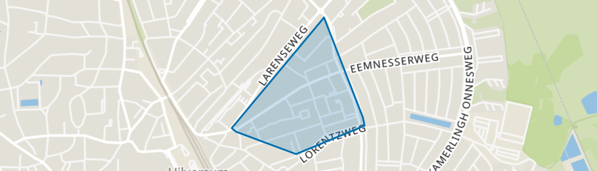 Electrobuurt, Hilversum map