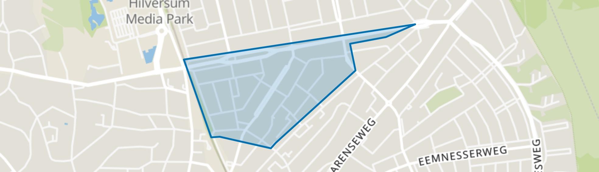 Johannes Geradtswegbuurt, Hilversum map