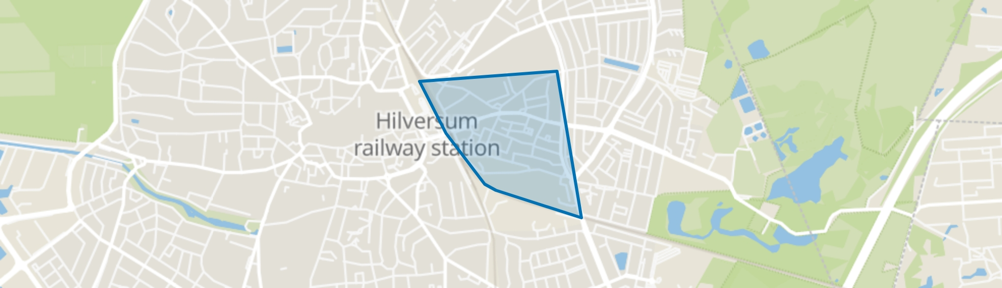 Kleine Driftbuurt, Hilversum map