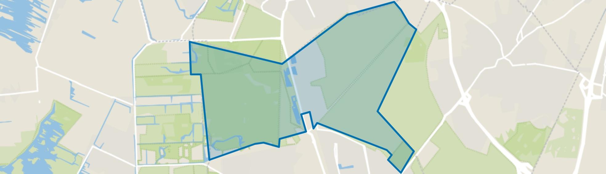 Landelijk Gebied 91, Hilversum map