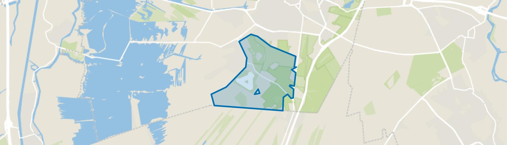 Landelijk Gebied 95, Hilversum map