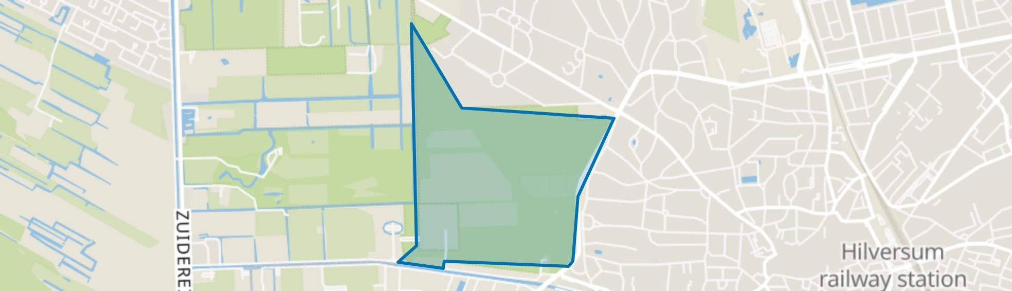 Landelijk Gebied 96, Hilversum map