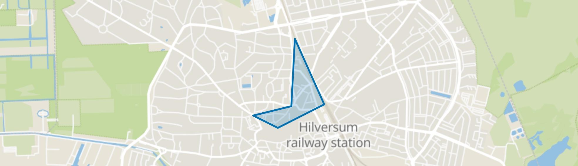 Langgewenstbuurt, Hilversum map
