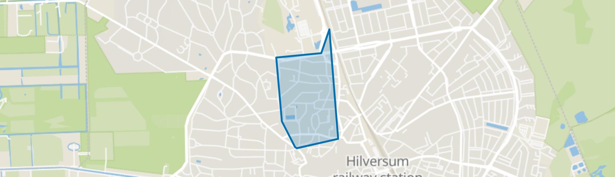 Raadhuiskwartier, Hilversum map