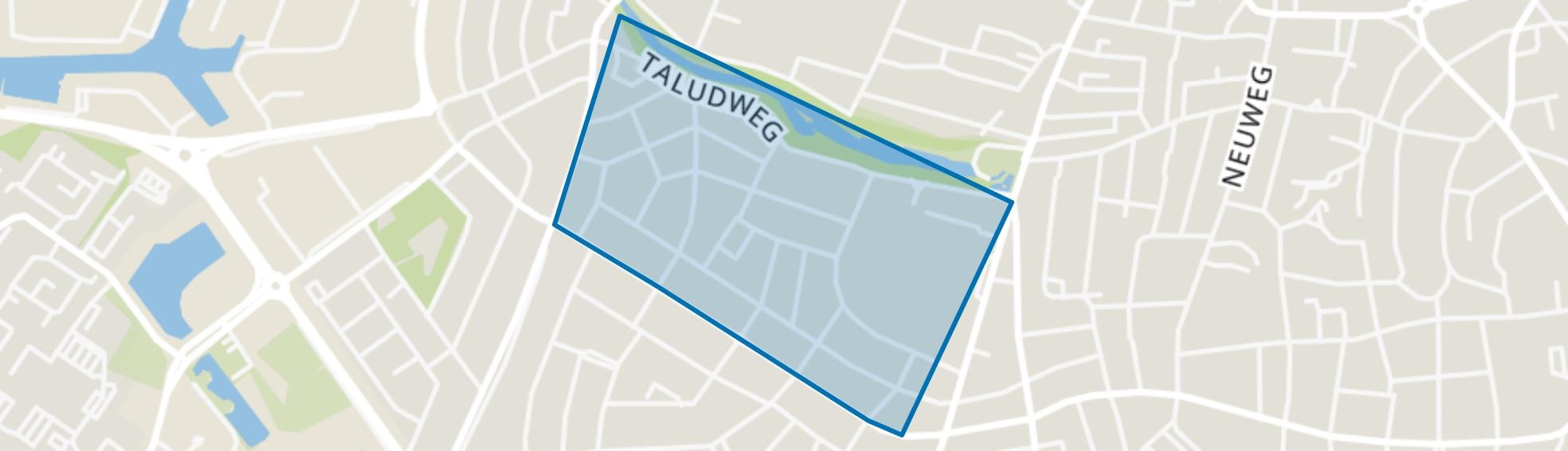 Schrijverskwartier, Hilversum map