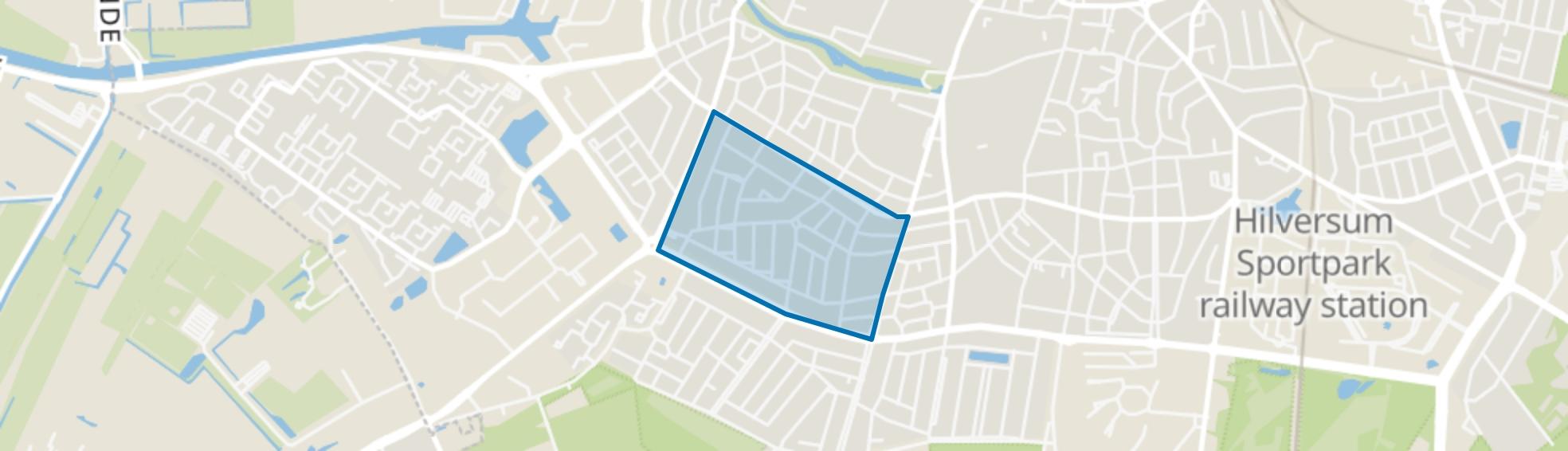 Staatsliedenkwartier, Hilversum map