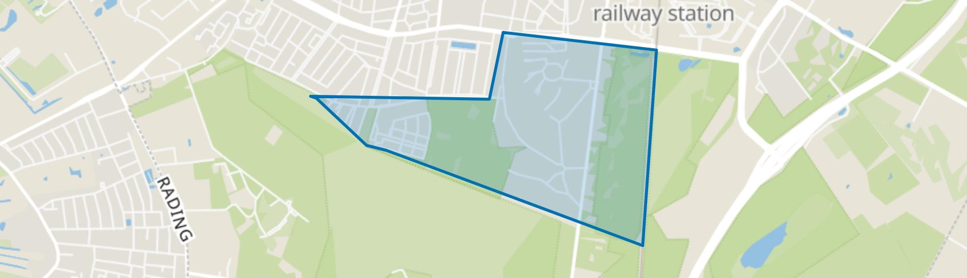 't Hoogt van 't Kruis, Hilversum map