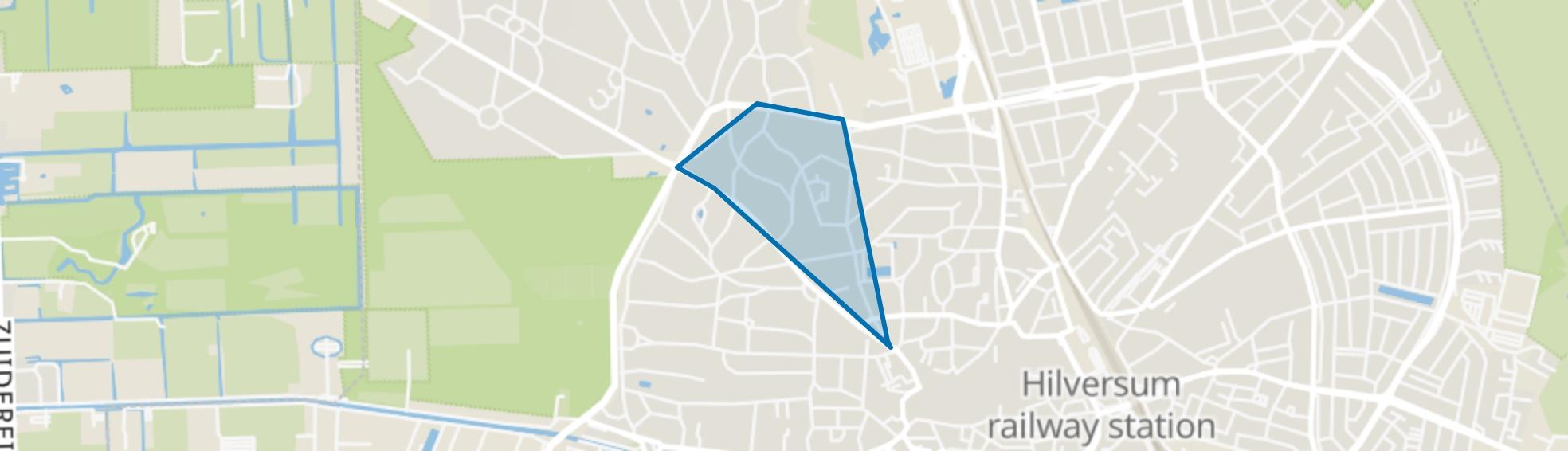 Trompenberg-Zuid, Hilversum map