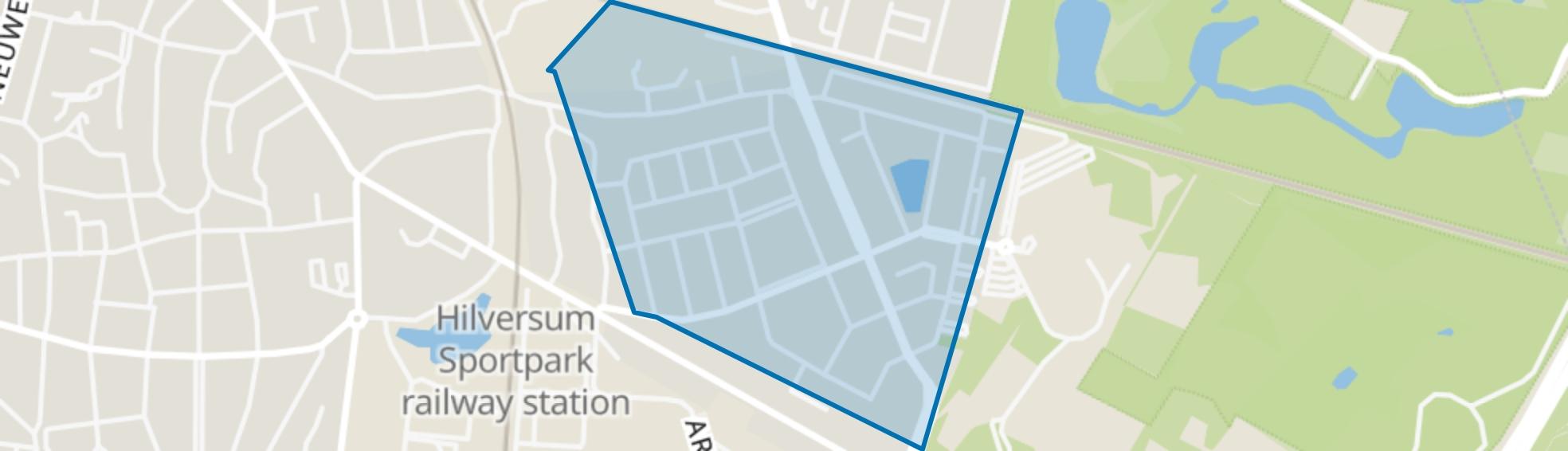 Van Riebeeckkwartier, Hilversum map