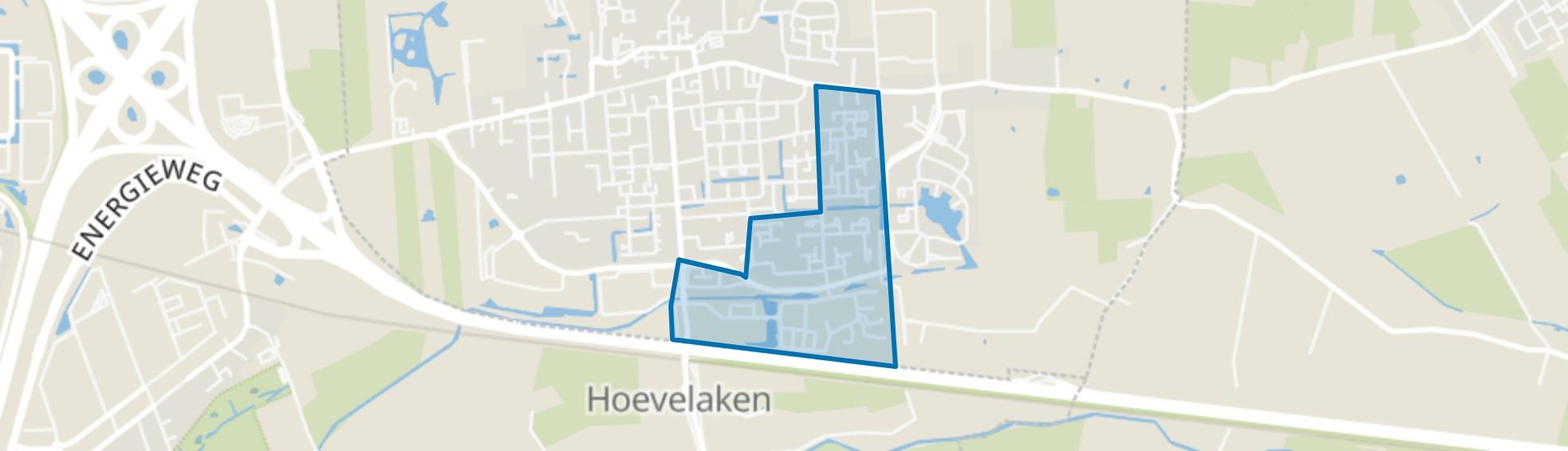 Hoevelaken-Oranjebuurt-Horstbeek, Hoevelaken map