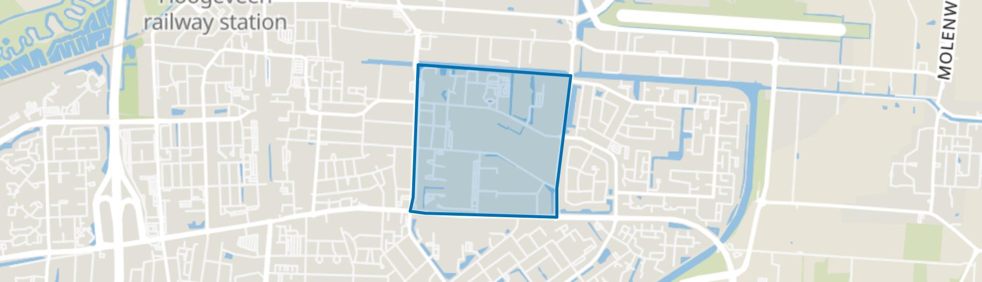 Bentinckspark, Hoogeveen map